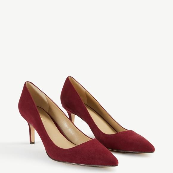 adc64260446 Ann Taylor Shoes - Ann Taylor Eryn suede pump heels vino size 6